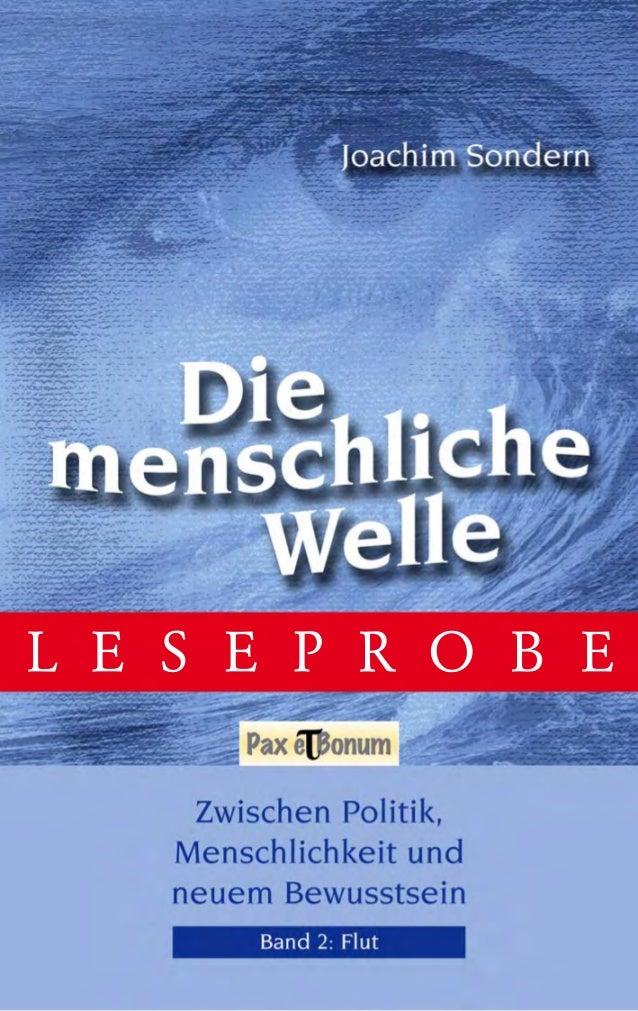 Leseprobe Buch: Die menschliche Welle Band II - Flut bei Pax et Bonum Verlag Berlin