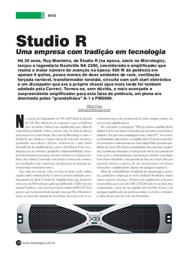 ARTIGO  Studiocom tradição em tecnologia R Uma empresa Há 25 anos, Ruy Monteiro, da Studio R (na época, sócio na Micrologi...