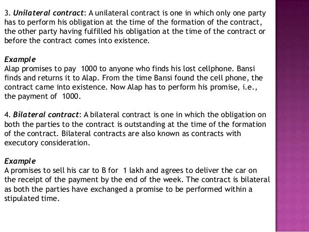 Contracts & Agreements as per Business Law