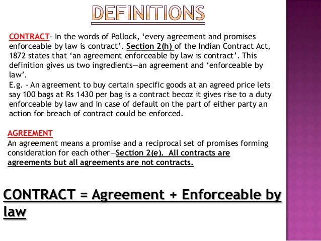 Definition of Contract Law