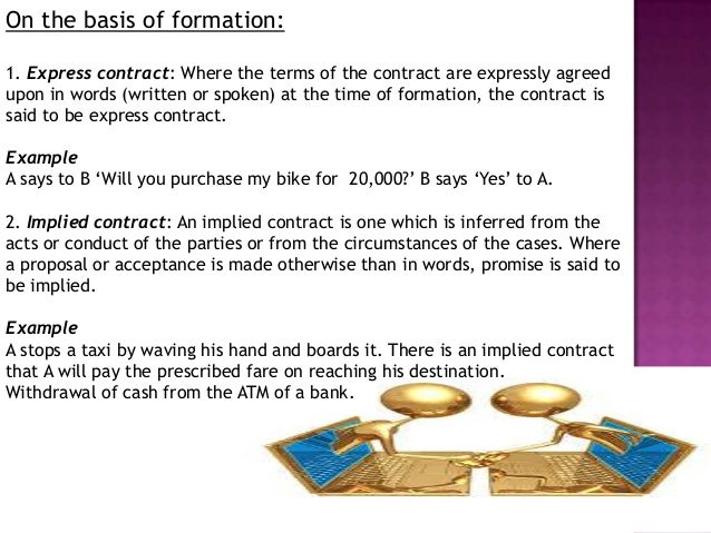 express contract example