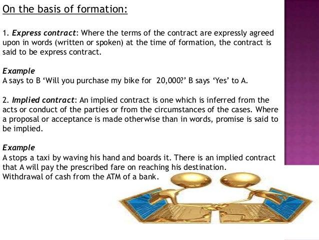 ... Agreement Unenforceable Contract; 7.