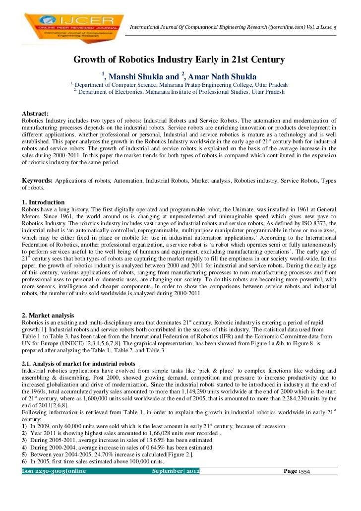 International Journal Of Computational Engineering Research (ijceronline.com) Vol. 2 Issue. 5                     Growth o...