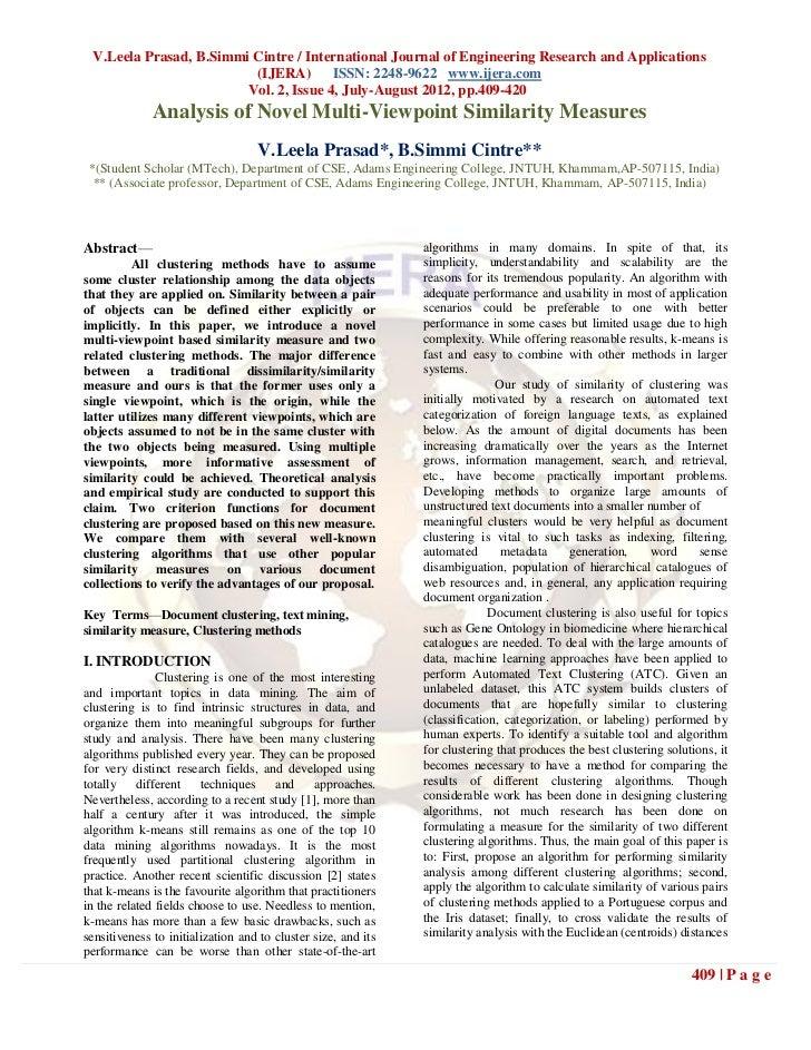 V.Leela Prasad, B.Simmi Cintre / International Journal of Engineering Research and Applications                         (I...