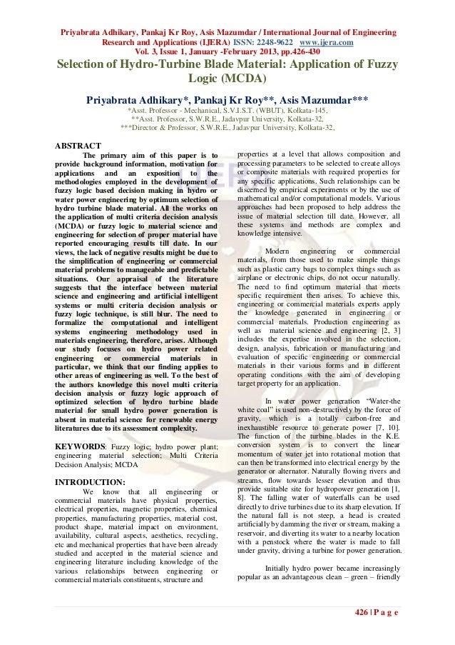 Priyabrata Adhikary, Pankaj Kr Roy, Asis Mazumdar / International Journal of Engineering            Research and Applicati...
