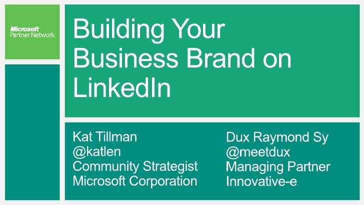 See How Partners Maximize LinkedInhttps://vimeo.com/45635912
