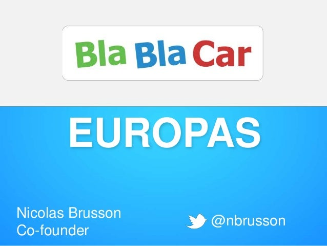 EUROPAS Nicolas Brusson Co-founder @nbrusson