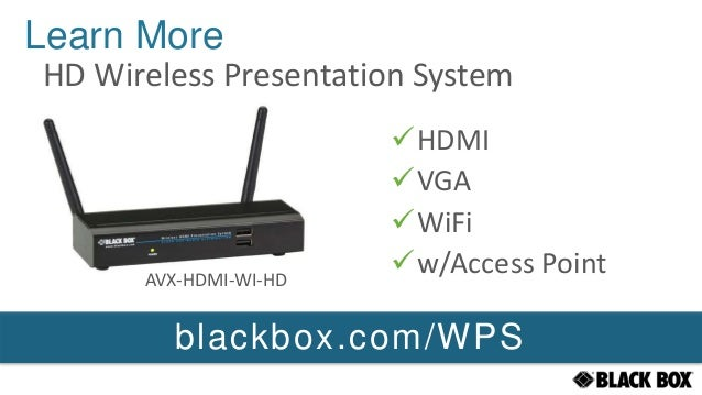 Black Box Wireless Projection System V2