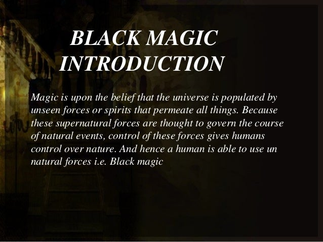 Image result for What is black magic?