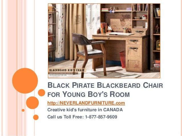 BLACK PIRATE BLACKBEARD CHAIR FOR YOUNG BOYu0027S ROOM //NEVERLANDFURNITURE.com Creative ... & Black Pirate Blackbeard Chair for Young Boys Room