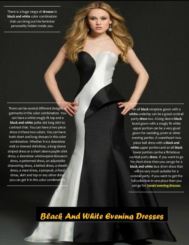 Jovani Black And White Prom Dresses