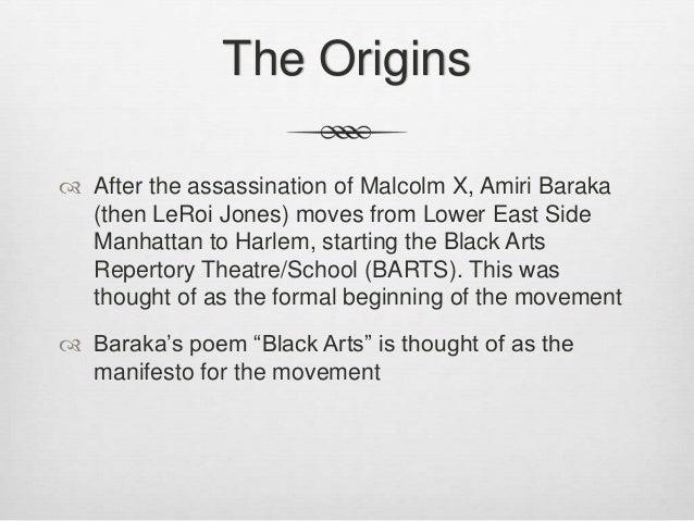 amiri baraka black arts movement essay Essays related to leroi jones and the black arts movement 1  the black arts movement in a 1968 essay,  the movement's major players were amiri baraka/leroi.