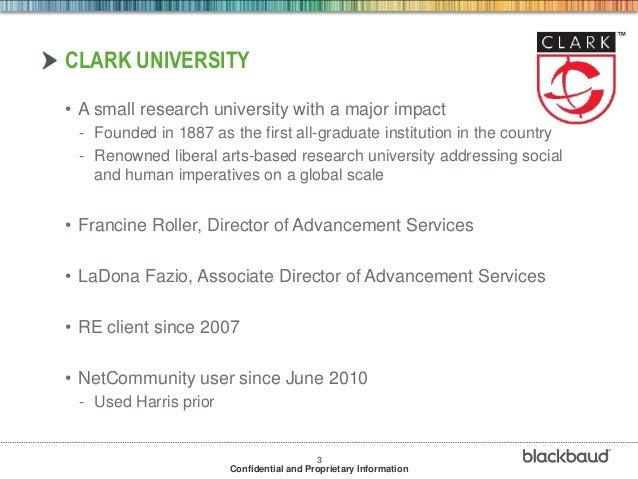 Blackbaud net community for higher education institutions Slide 3