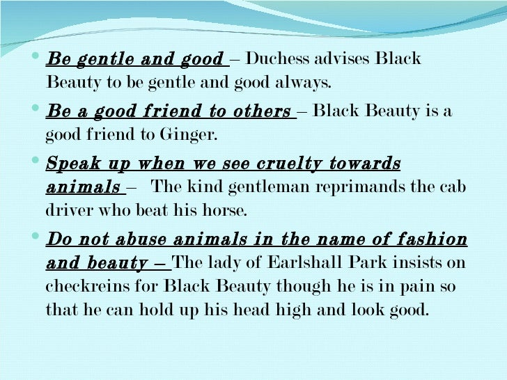 black beauty anna sewell essay Black beauty by anna sewell  black beauty's mother is extremely sad for this particular horse and black beauty soon realises that the horse was his older brother.