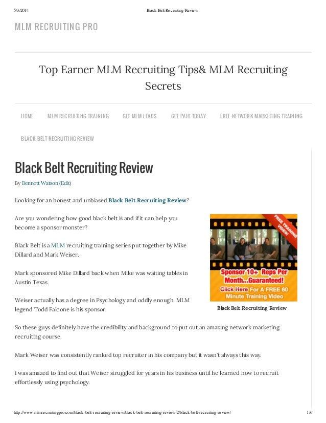 5/3/2014 Black Belt Recruiting Review http://www.mlmrecruitingpro.com/black-belt-recruiting-review/black-belt-recruiting-r...