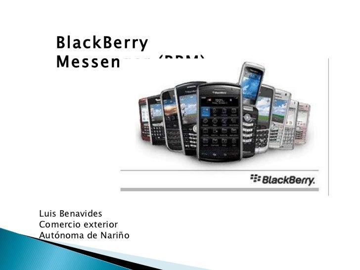 BlackBerry Messenger (BBM) Luis Benavides Comercio exterior Autónoma de Nariño