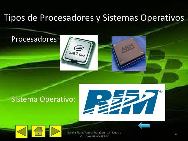 Tipos de Procesadores y Sistemas Operativos Procesadores: Sistema Operativo:                 Narella Fiore, Yamila Ibargüe...
