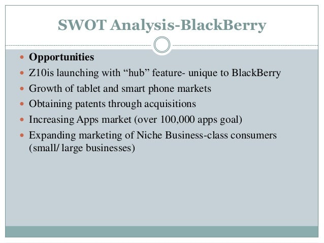 blackberry swot analysis Ebscohost serves thousands of libraries with premium essays, articles and other content including blackberry limited swot analysis get access to over 12 million other articles.