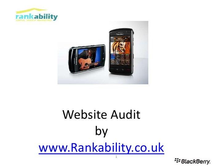 Website Auditbywww.Rankability.co.uk<br />1<br />