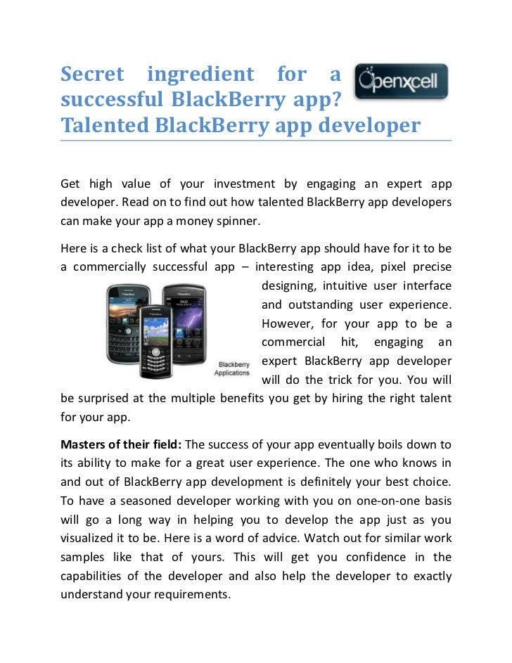BlackBerry App Developer