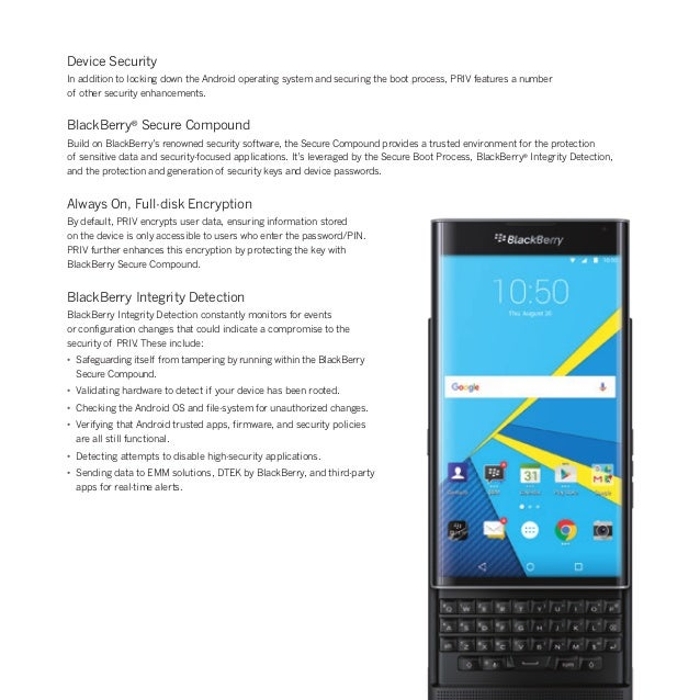 PRIV Security: How BlackBerry PRIV Safeguards Your Data