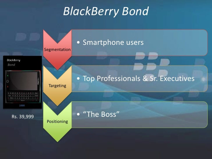 distribution strategies for blackberry The mobile application market  strategies learn about the  was popularized, distribution of mobile content and applications.