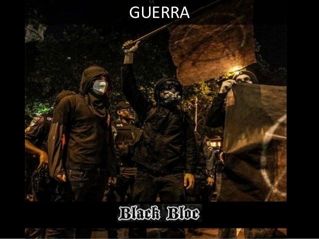 04 - CONFRONTO DELIBERADO Os Black Blocs não apenas respondem – como alegam – a violência da repressão estatal, mas pratic...