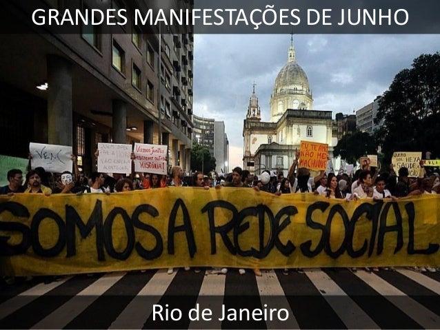 GRANDES MANIFESTAÇÕES DE JUNHO  São Paulo