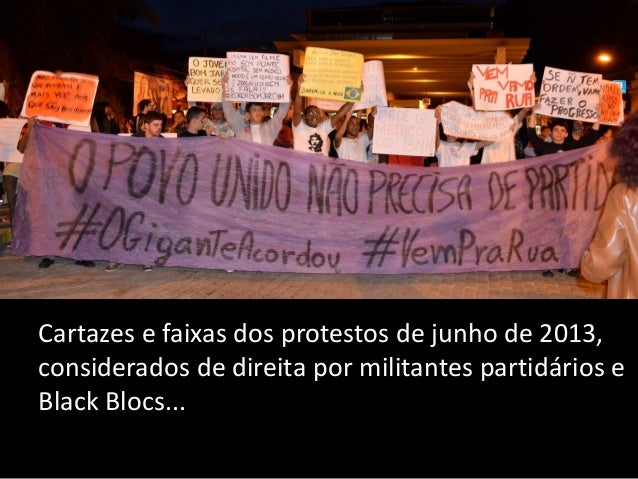 Expressões amorosas dos manifestantes de junho, consideradas ingênuas ou de direita pelos Black Blocs