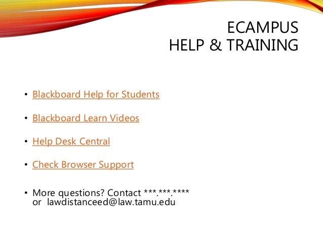 11. ECAMPUS HELP U0026 TRAINING U2022 Blackboard ...