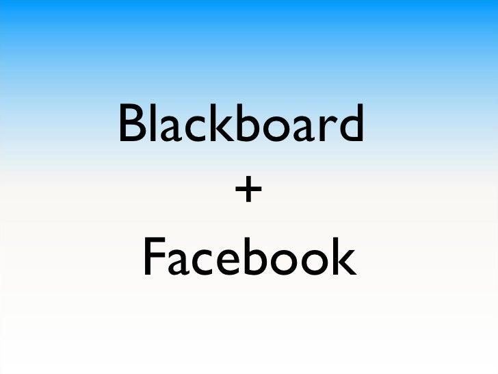 Blackboard  + Facebook