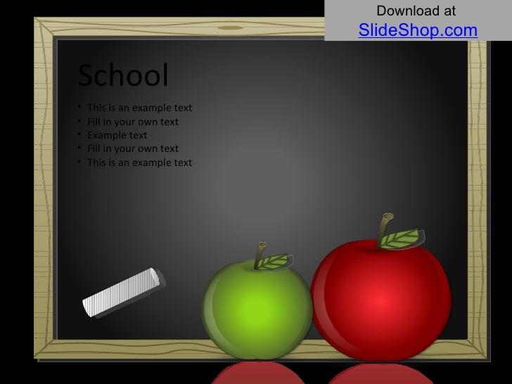 Download at   SlideShop.com Example text <ul><li>This is an example text </li></ul><ul><li>Fill in your own text </li></ul...