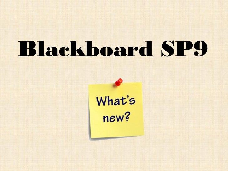 Blackboard SP9