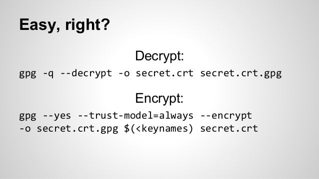 Puppet Camp NYC 2014: Safely storing secrets and credentials