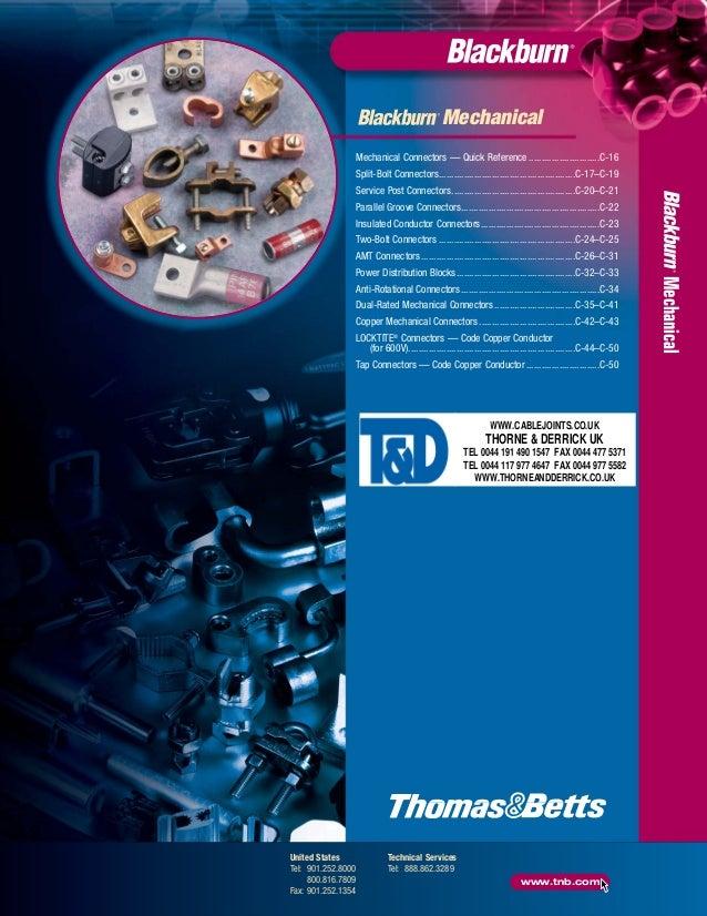 Blackburn Mechanical Connectors Catalogue