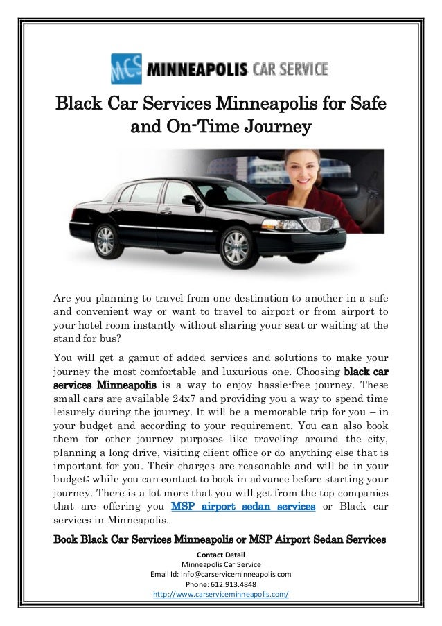 Black Car Services Minneapolis For Safe And On Time Journey