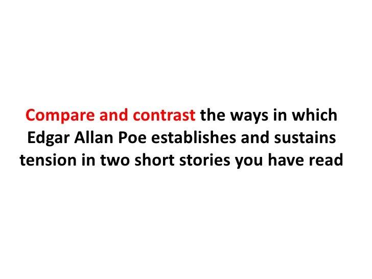 Comparison/ Contrast of Poe/ Hawthorne Essay