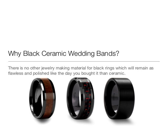 why black ceramic wedding bands there is no other jewelry making material for black rings - Wedding Rings Black
