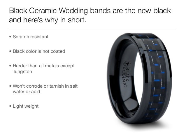 Scratch resistant wedding bands