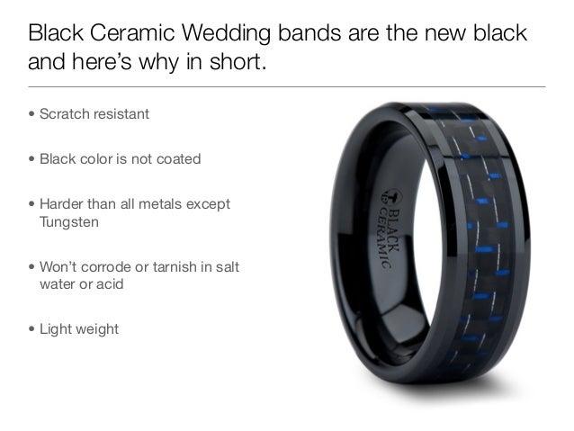 Scratch resistant wedding bands