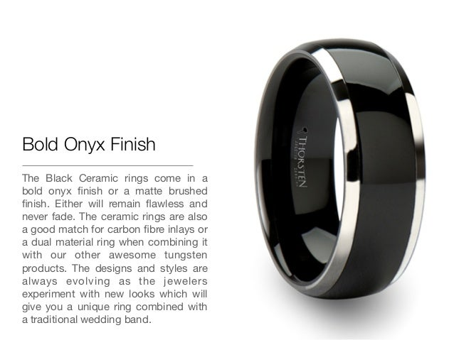 5 bold onyx finish the black ceramic rings - Ceramic Wedding Rings