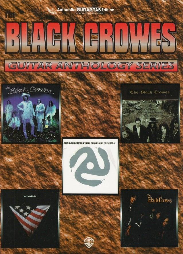 Black Crowes Guitaranthologyseriesisbn0769284175guitar