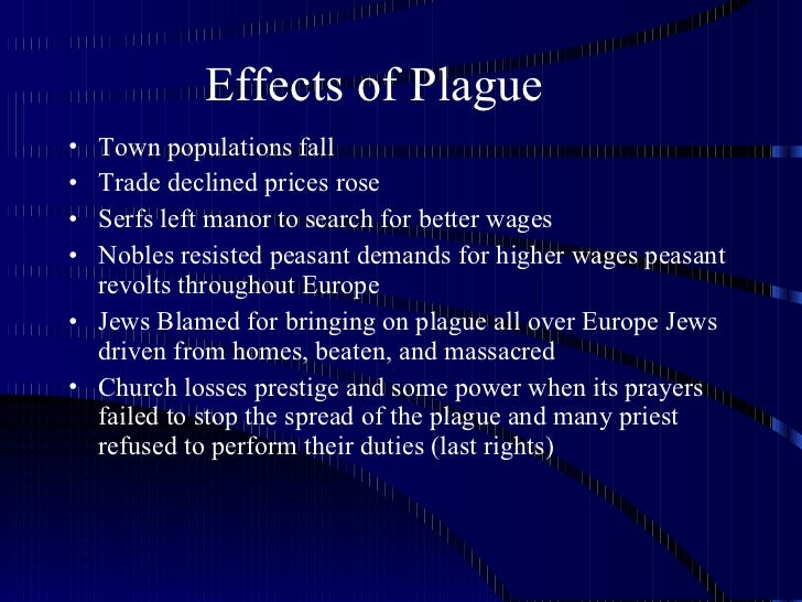 The effects of the black death
