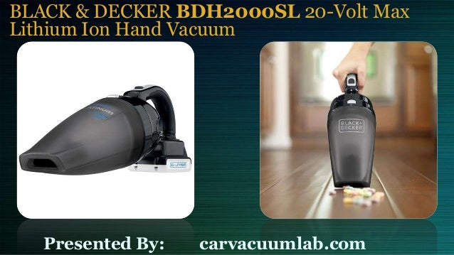 Black Decker Bdh2000sl 20 Volt Max Lithium Ion Hand Vacuum