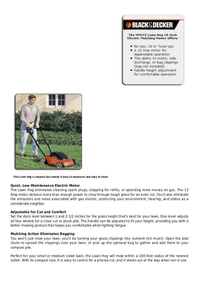 Black & decker mm575 lawn hog 18 inch 12 amp electric