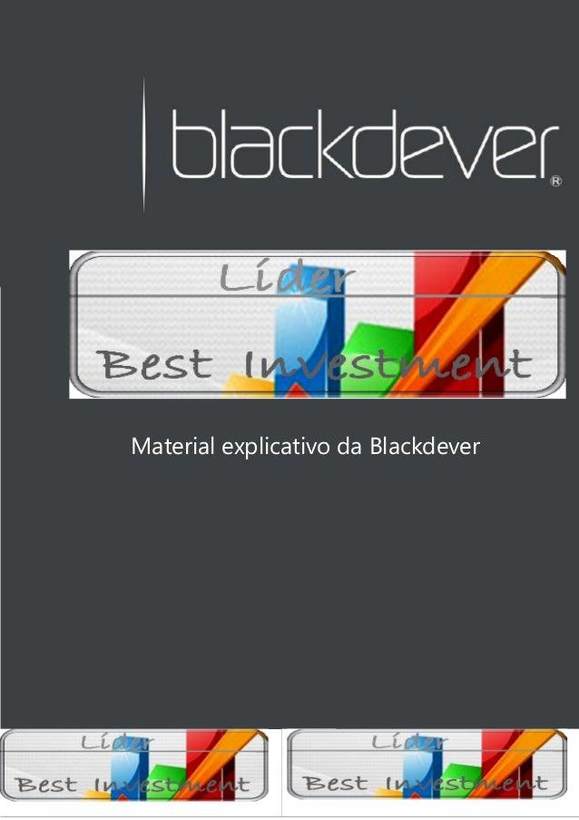Equipe DiamondsExecutive'sMaterial explicativo da Blackdever