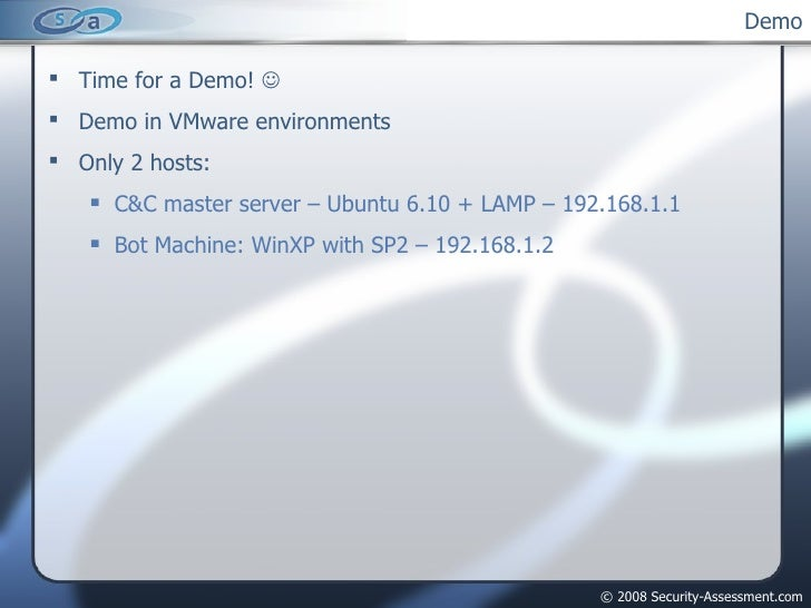 Demo <ul><li>Time for a Demo!     </li></ul><ul><li>Demo in VMware environments </li></ul><ul><li>Only 2 hosts: </li></ul...