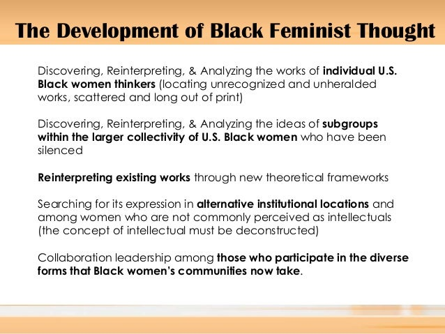 the conceptual framework of feminism Feminism and intra-gender relations in africa: a theoretical and conceptual framework.