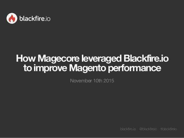 blackfire.io @blackfireio #blackfireio HowMagecoreleveragedBlackfire.io toimproveMagentoperformance November 10th 2015