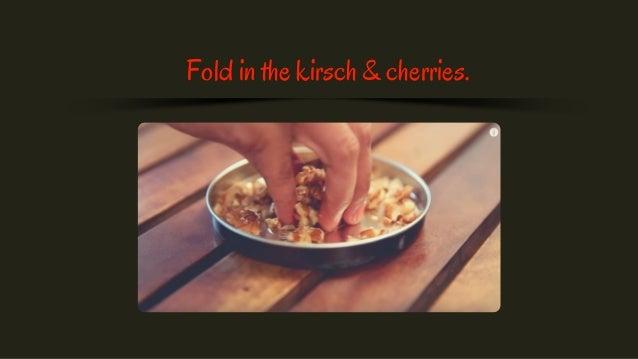 Fold in the kirsch & cherries.